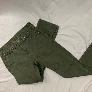 Men's LEVI STRAUSS 501 Button Fly  Green 34 x 30